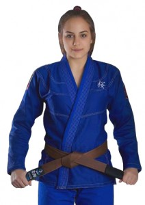 GROUND GAME Kimono do BJJ Damskie SAKURA Niebieskie (350g)