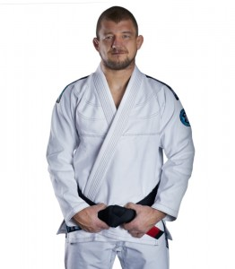 GROUND GAME Kimono do BJJ Rookie Białe (450g)