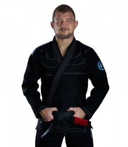 GROUND GAME Kimono do BJJ Rookie Czarne (450g)
