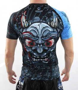 GROUND GAME Rashguard MMA Oni Black