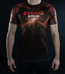 GROUND GAME Rashguard MMA Rank Brązowy