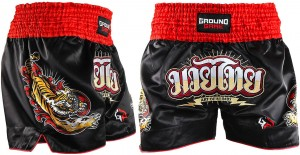 GROUND GAME Spodenki Muay Thai RED TIGER