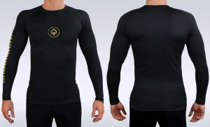 GROUND GAME Rashguard MMA Athletic Gold