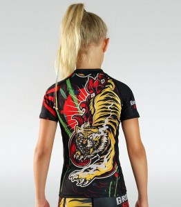 GROUND GAME Rashguard Dziecięcy Red Tiger